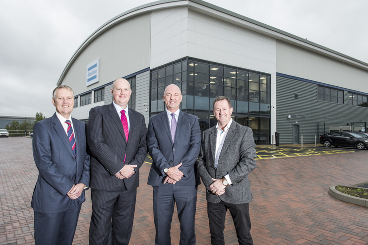 Noel Muscott (Partner, Bulleys), John Sambrooks (Partner, Cushman & Wakefield), Justin Parker (Managing Director, A&J Mucklow), David Jones (Atlas Copco),