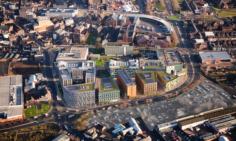 Aerial composite of Smithfield mixed use scheme