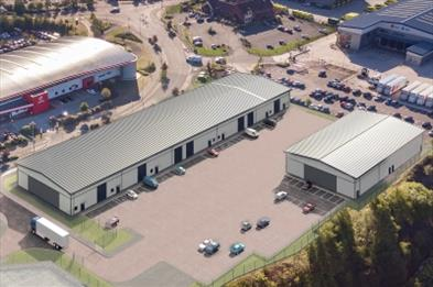 CGI of Etruria Valley Trade Park