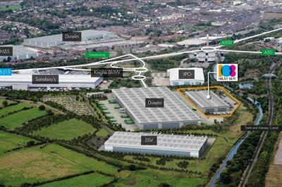 Aerial photograph of ProLogis Park Sideway, Stoke-on-Trent