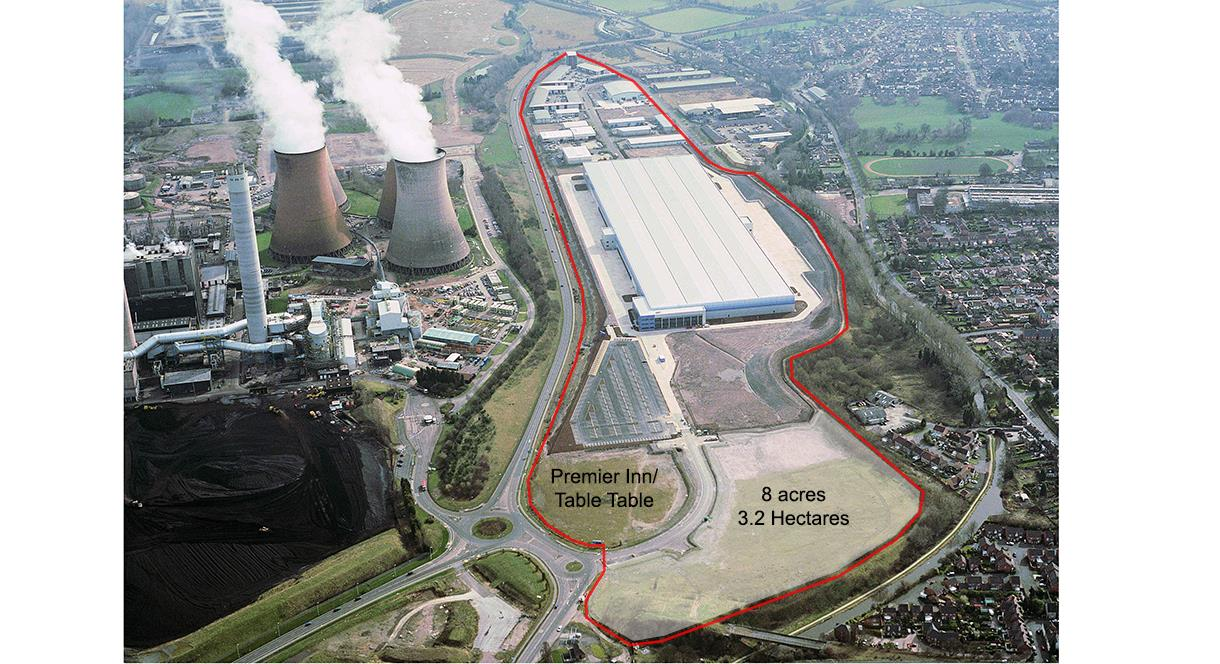 Aerial photograph of Towers Business Park / G Park Rugeley
